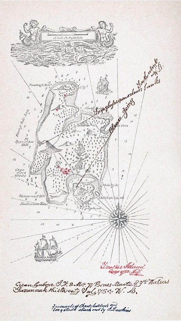 Magie Treasure island map stevenson