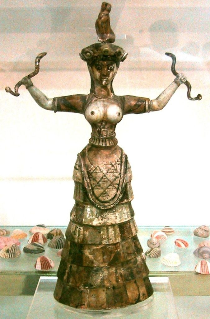 Déesse serpent statuette Crete
