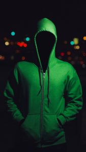 faceless man bokeh green darkness hoodie